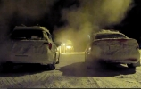 Audi ir Subaru vairuotojai mėgaujasi sniegu