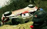 Įspūdinga Novikovo avarija Meksikos ralyje