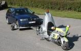 Motociklas skirtas automobiliams transportuoti