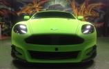 Latviškas žalias Aston Martin
